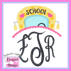 Girl Bus Topper Applique