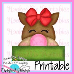 Girl Reindeer PNG Printable