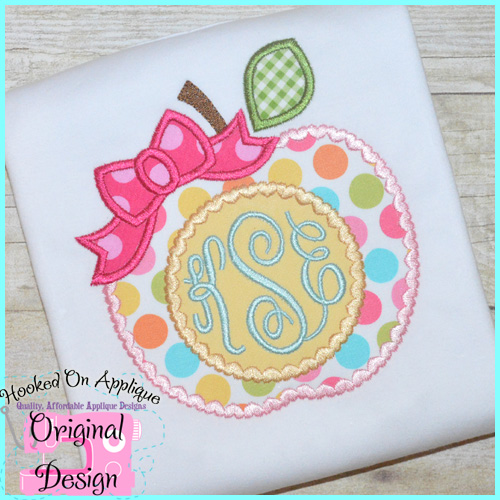 Girly Apple Applique Design