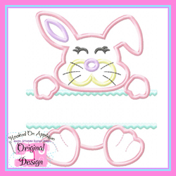 Split Girl Bunny Applique