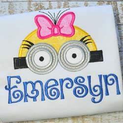 Girl Minion Topper Applique
