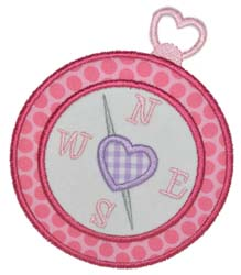 Girly Compass Applique