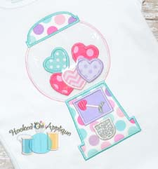Heart Gumball Machine Applique
