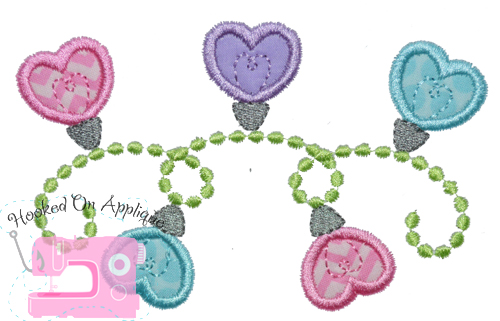 Heart Lights Applique