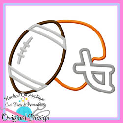 Helmet Football Applique