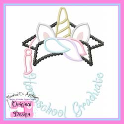 Homeschool Unicorn Grad Applique