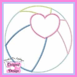 Heart Bach Ball Zig Zag Applique