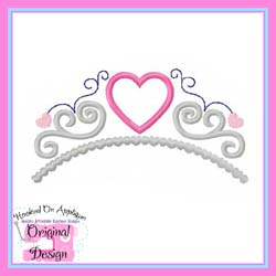 Heart Tiara Applique