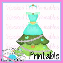 Jasmine Tree Dress PNG Printable