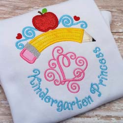 Kindergarten Princess Tiara Applique