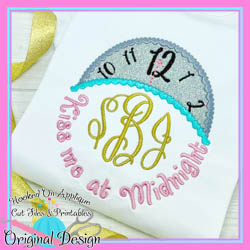 Kiss me at Midnight Applique