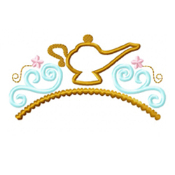 Genie Lamp Tiara Applique