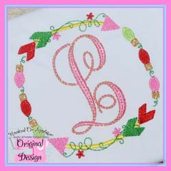 Lights Arrow Circle Embroidery Design