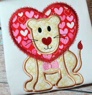 Lion Heart Boy Applique