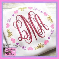 Love Arrow Frame CUT FILE