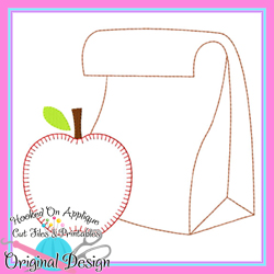 #HOA1097 Lunch Bag Apple Bean Applique