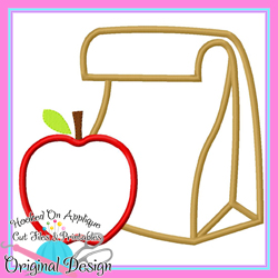Lunch Bag Apple Applique