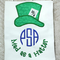Mad as a Hatter Applique