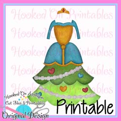 Merida Tree Dress PNG Printable