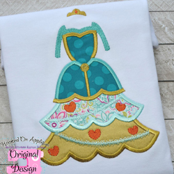 Scottish Princess Tree Dress Applique