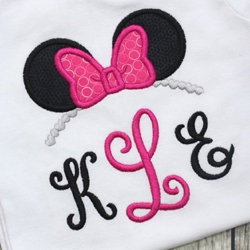Miss Mouse Tiara Applique