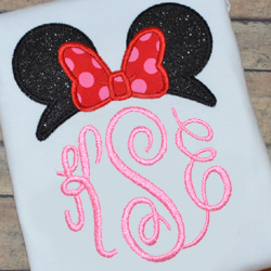 Miss Mouse Topper Applique