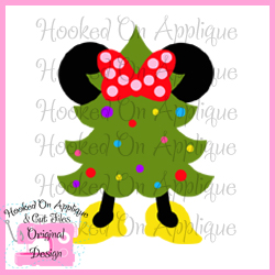 Miss Mouse Christmas Tree CUT FILE