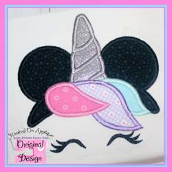 Miss Mouse Unicorn Applique