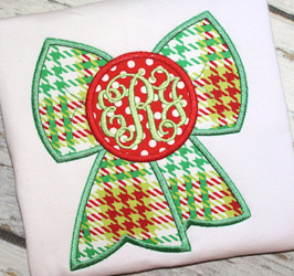 Monogram Bow Applique