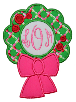 Monogram Wreath Applique