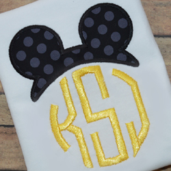 Mouse Ears Topper Applique