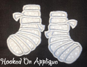 Mummy Feet Applique