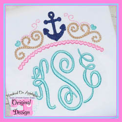 Girly Anchor Topper