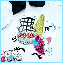 NYE 2019 Unicorn ZigZag Applique