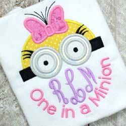 One in a Minion Applique