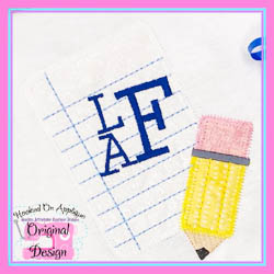 Paper Pencil Blank Zig Zag Applique