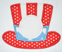 Patriotic Hat Applique