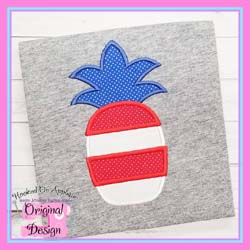 Patriotic Pineapple 1 Applique