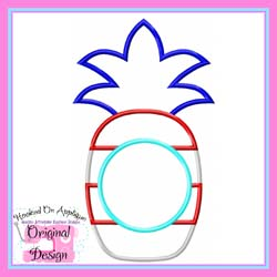 Patriotic Pineapple 2 Applique