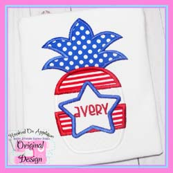 Patriotic Pineapple 3 Applique
