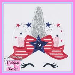 Patriotic Unicorn Applique