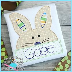 Peek Bunny Bean Stitch Applique