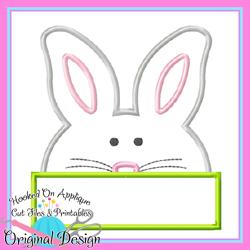 Peek Bunny Applique