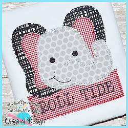 Peek Elephant Blanket Stitch Applique