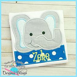 Peek Elephant Applique