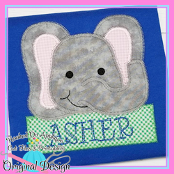 Peek Elephant Zig Zag Applique
