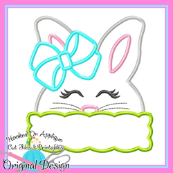 Peek Girl Bunny Applique