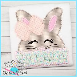 Peek Girl Bunny Zig Zag Applique