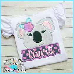 Peek Koala Girl Applique