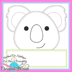 Peek Koala Blanket Stitch Applique